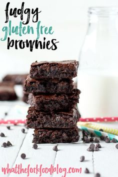 Super fudgy gluten free brownies will be a staple recipe for years to come. It's a great base recipe to make any kind of decadent brownies you'd like! From @whattheforkblog | whattheforkfoodblog.com | sponsored by #mockmill