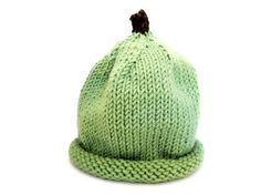 Green Knit Apple Hat by LittleMagpieCo on Etsy, $22.00