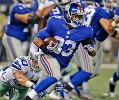 New York Giants running back Da'Rel Scott