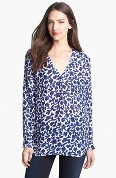 Joie 'Daryn' Print Silk Top available at #Nordstrom