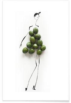 Olives als Premium Poster von Gretchen Roehrs | JUNIQE
