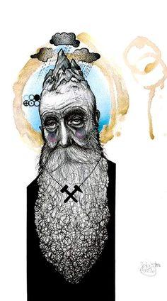 Tattoo Artist Peter Aurisch ainting