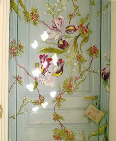 diy, door, drawings, exterior, floral, green kiero