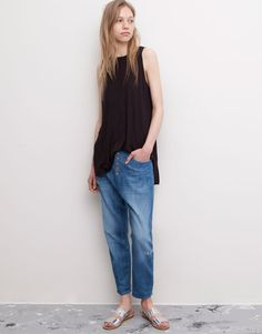 Pull&Bear - mujer - denim collection - jeans beduino botones frontales - azul - 05682337-V2015