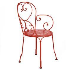 1900 armchair, poppy, by Fermob.