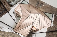 Extravagant Copper Roof Adds a Dramatic Finish to a Georgian Townhouse Renovation in London GMS Estates' Georgian Townhouse HQ by Emrys Architects – Inhabitat - Green Design, Innovation, Architecture, Green Building Architecture Origami, Roof Architecture, Architecture Details, Historic Architecture, Architecture Wallpaper, Contemporary Architecture, Architecture Extension, Architects Journal, Georgian Townhouse