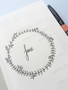 bullet journal first page