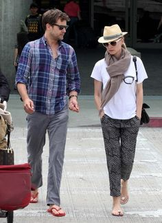 Diane Kruger And Beau Joshua Jackson Touch Down At LAX