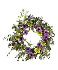 Another great find on #zulily! Cosmos Aster Fern Wreath #zulilyfinds