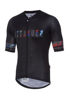 Core Brush Jersey Black (Logo Print) Cycling Jersey Attaquer - 1