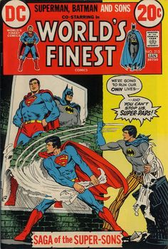 The generation gap comes to Metropolis and Gotham! Clark Jr. and Bruce Jr. inherited their fathers' skills but not their patience. The rents put them through a test.