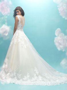 28 Trendy wedding veils with ballgown allure bridal Wedding Dresses Size 14, Elegant Wedding Dress, Bridal Dresses, Wedding Gowns, Bridesmaid Dresses, Elegant Bride, Trendy Wedding, Summer Wedding, Wedding Gown Gallery
