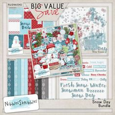 Personal Use :: Bundled Deals :: Snow Day Bundle by Nibbles Skribbles