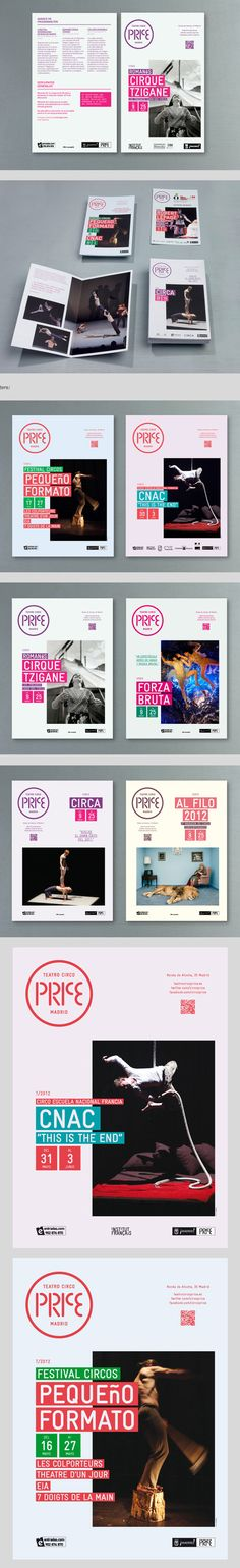 Teatro Circo Price programme and print advertising by toormix