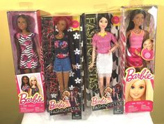 Lot of 4 Barbie Dolls NEW In Boxes Girls Toys Christmas Gifts  | eBay Christmas Gifts For Girls, Toys For Girls, Barbie Dolls, Boxes, Ebay, Girls Toys, Crates, Box, Cases