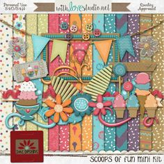 Wednesday's Guest Freebies ~ Ice Cream Social Blog Train ✿ Follow the Free Digital Scrapbook board for daily freebies: https://www.pinterest.com/sherylcsjohnson/free-digital-scrapbook/ ✿ Visit GrannyEnchanted.Com for thousands of digital scrapbook freebies. ✿