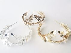Greek Goddess Laurel Leaf Crown Gold Tiara Gold by AnnaMarguerite   Maybe even silver plated!!!