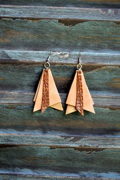 Handmade Leather Earrings from Thailand #119 · Purchase Effect · Online Store Powered by Storenvy