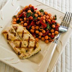 Grilled Mahi Mahi Recipe with Lemon and Capers [#SouthBeachDiet Phase One #Recipe; from Kalyn's Kitchen; visit the blog to see step-by-step photos of this recipe.]