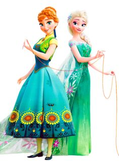 Anna and Elsa - Frozen Fever