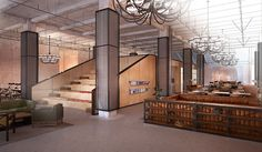 The Steps at Neuehouse, a high-end coworking space in New York.