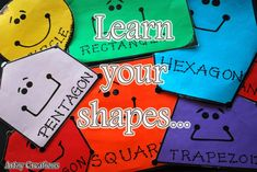 Learn your shapes #kids #shapes (craftionary feature)