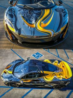 Chrome, black and yellow McLaren decoration. We collect and generate ideas: ufx.dk