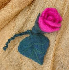 https://flic.kr/p/7rutno | PINK CERISE ROSEBUND...NEEDLE FELTED BROOCH | HI!, please visit my profile for find out where can you find this lovely piece of artwork. THANKS!