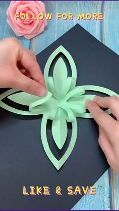 Paper Flowers Craft, Paper Crafts Origami, Oragami, Flower Crafts, Diy Paper, Diy Crafts To Do, Paper Crafts For Kids, Diy Arts And Crafts, Paper Folding