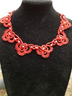 Necklace for a new dress Needle Tatting, New Dress, Crochet Necklace, Jewelry Making, Beautiful, Fashion, Moda, Fashion Styles, Jewellery Making