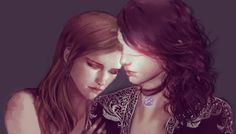 One of my favorite ships!! triss and yennefer during their recovery time after the battle of sodden hill. and i want to add that the first thing yen looked at after getting her sight back is triss's...