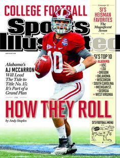 Tide QB AJ McCarron featured on cover for Sports Illustrated's 2012 college football preview