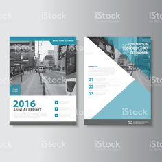 Blue Vector annual report Leaflet Brochure Flyer template set royalty-free stock vector art