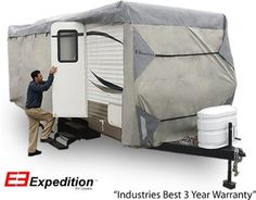 Expedition RV Trailer Cover Fits Travel Trailer 22 23 & 24 Foot RVs