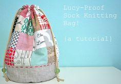 drawstring bag tutorial by Tamiko