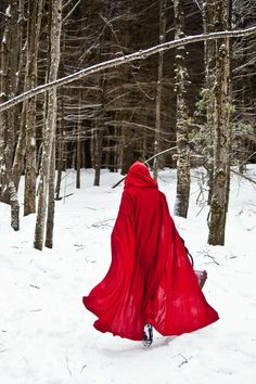 Little Red Riding Hood: Use the dogs as wolves throughout the shoot. Dress him up as the hunter. Try to stay away from single person shots, use photos as guides for my own scenes. Photo Romance, Fantasy Magic, Red Ridding Hood, Forest Fairy, Red Hood, Mo S, Little Red, Lady In Red, Inspiration