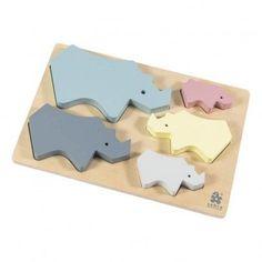 Sebra Wooden Rhino Puzzle-listing