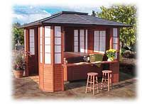 THE VISTA PAVILION | Spa gazebos and hot tub enclosures by Sequoia Spa Shelters