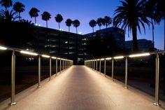 Intense Lighting's V-RAIL illuminates the bridge at Griffin Towers in Santa Ana, CA.