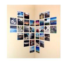 21 Dorm Room DIY Projects to Customize Your Space   StyleCasterFotos en forma de corazón