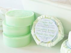 cucumber, rosemary, and mint natural round soap Beauty Lookbook, Diy Body Scrub, Hair And Makeup Tips, Cool Hair Color, Diy Skin Care, Home Made Soap, Natural Cosmetics, Handmade Soaps, Beauty Routines