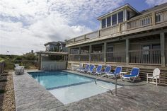 After a day at the beach come relax at this new pool at this ocean front remodel in Southern Shores, NC Custom Homes, Southern, Relax, Ocean, Beach, Seaside, Keep Calm, Sea, The Ocean