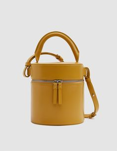 96e4f8409 Building Block   Drum Shoulder Bag in Mustard