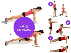 Easy Exercises - No Equipment Required. Pin now, read later!! #fitness #health #exercise