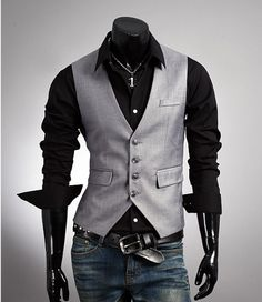 Fashion Classic Stylelish Gentleman Mens Vest Custom made 1011 on Etsy, $33.00 CAD