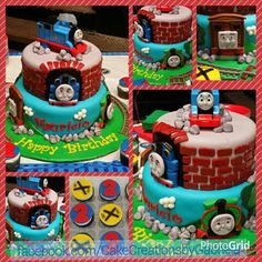 Thomas the Train Birthday Cake by Cakes by Gabriela of Houston,  TX