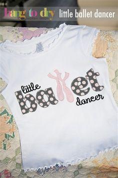 Little ballet dancer embroidered shirt by PigTailsnPonyTails, $16.00