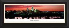 Omaha, Nebraska City Skyline Panoramic Pictures & Posters