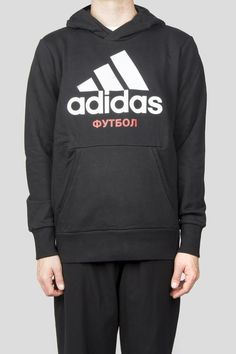 cotton, terry woven hooded sweatshirt with pouch pocket Product Code: Color: Black Material: Cotton Model Specifications: Height: / Top: Medium / Bottom: Large Hooded Sweatshirts, Hoodies, Gosha Rubchinskiy, Adidas Jacket, Graphic Sweatshirt, Model, Cotton, Sweaters, Jackets