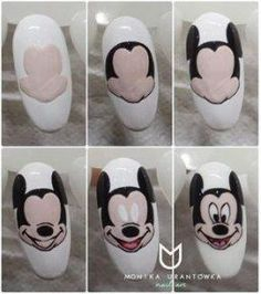 Trendy Nails Design For Kids Mickey Mouse Mickey Mouse Nail Art, Mickey Nails, Minnie Mouse Nails, Simple Nail Designs, Nail Art Designs, Nails Design, Design Art, Love Nails, Fun Nails
